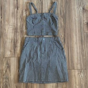 Hollister Checkered Two Piece